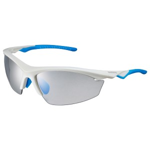Shimano Okulary EQX2PH Metallic White / Light Blue